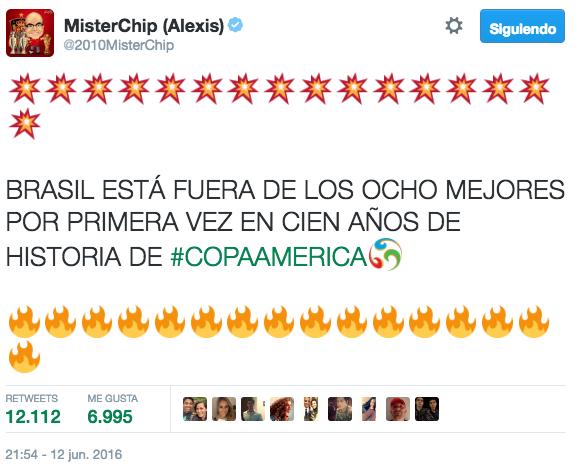 4. Tuit de la Copa América más popular en Mx