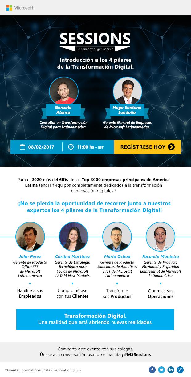 Microsoft Sessions Transformacion Digital Gonzalo Alonso