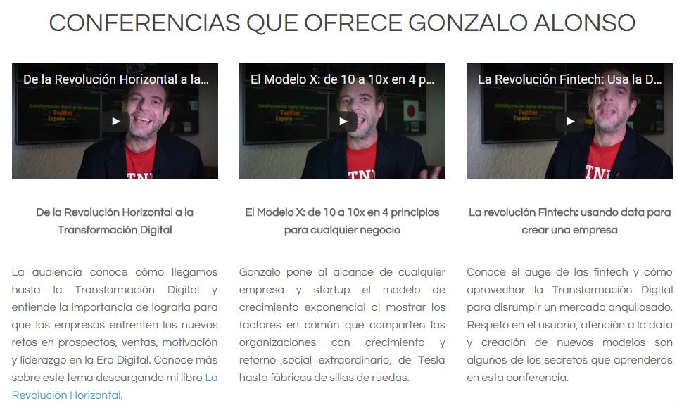 Videos conferencias gonzalo homepage